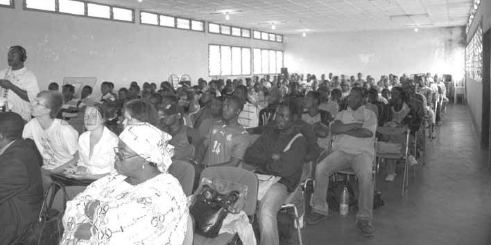 Le public lors du forum