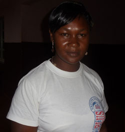 Chanceline Manike, citoyenne de la commune de Mbouda