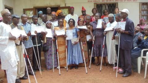 Des aveugles et malvoyants formés par le FARA