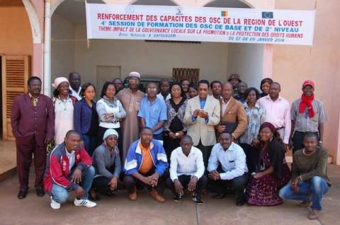 Des Osc à l'école de la promotion des droits  humains par  une  meilleure  gouvernance  locale