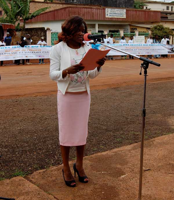 Discours de la présidente nationale du Réseau des jeunes du Cameroun
