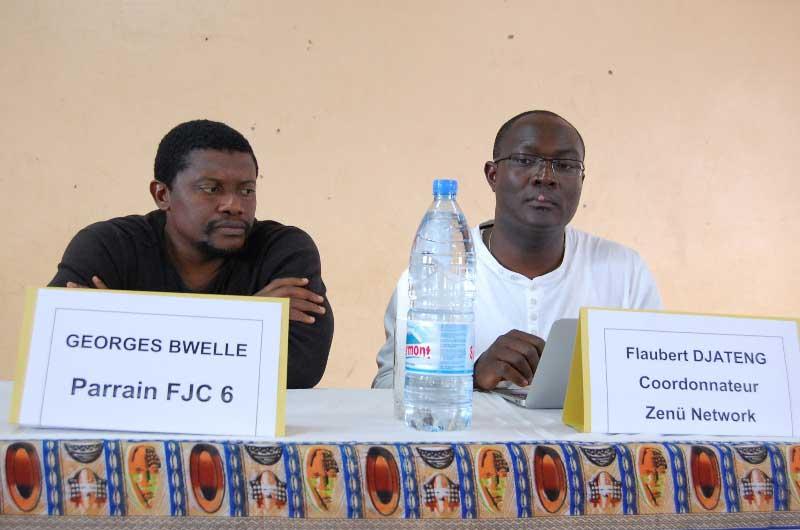 Dr Georges Bwelle, parrain du FJC, à la conférence