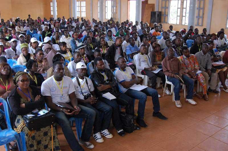 Une vue de la salle de conférence à St Albert Le Grand de Tamdja