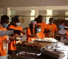 Séances de travail autour du buffet et sortie de découverte à Ekom-Nkam – Région du Littoral Cameroun – FJC2021