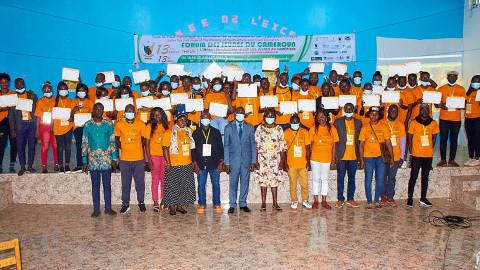 Cérémonies de clôture et remise des attestations de participation à Sangmélima – FJC 2021